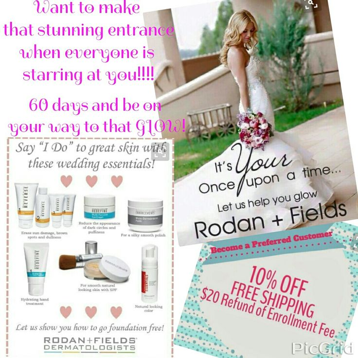 I'm ready to help you look your best for your wedding day!!!! Message me to get started. I will give you 10% off as a preferred customer, free shipping, $20 back and a free item of choice as my gift to you....  #GlowingSkin  #WeddingDayReadyForThatBeautifulYou #SmileandGlow
