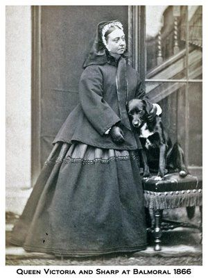 Queen Victoria, 1866 with her dog Sharp