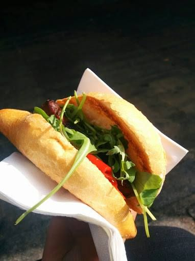 A pretty looking chorizo sandwich in #London. We are sure it was as delicious as it was beautiful!