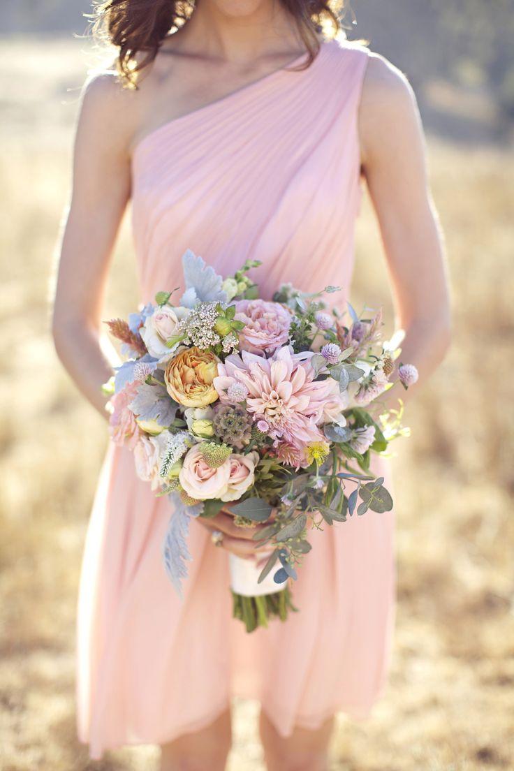 Photo by: Jo Ann Manolis Photography Venue: Santa Lucia Preserve Planning & Design: Coastside Couture Floral: Laughin' Gal #CoastsideCouture  #CarmelWeddings #bridesmaid #Flowerbouquet #ranch #preserve