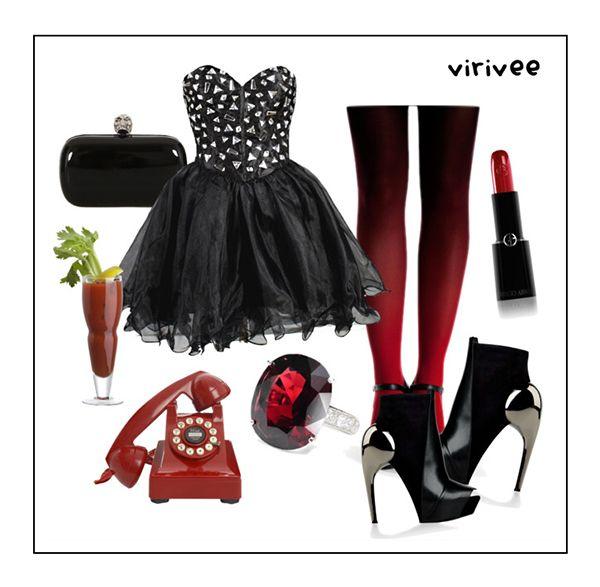 Red and Black with Virivee. #ombre #gradient #tights #pantyhose #redblack #virivee
