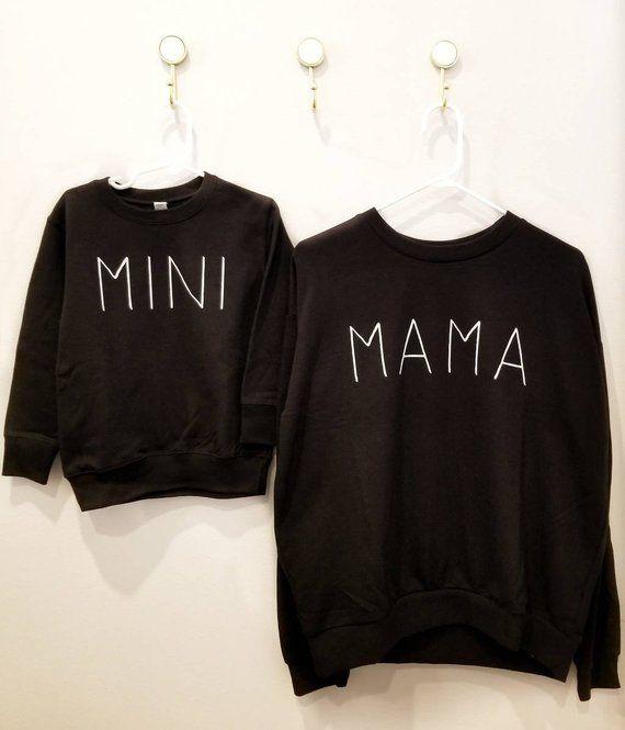 Mama and Mini matching sweatshirt set