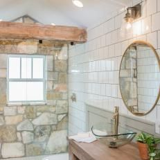 Contemporary Neutral Bathroom with Walk-In Shower