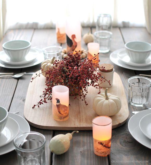 DIY Thanksgiving Luminaries!