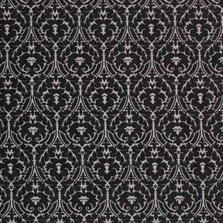 Warwick Fabrics : WALTHAMSTOW, Colour BLACK