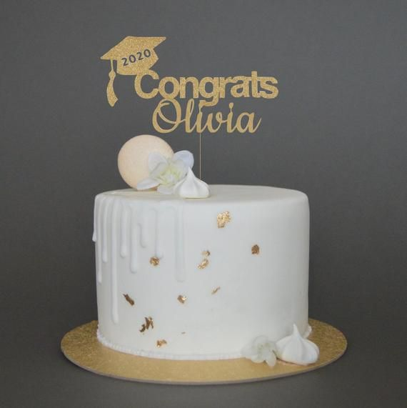 Personalised Graduation Cake Topper 2020 Any Name Custom