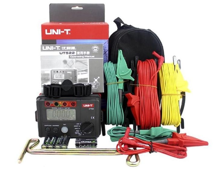 109.25$  Buy here  - Fast arrival UNI-T UT522 Digital Earth Ground Resistance Tester Lightning Rod Lightning Detector Low tester