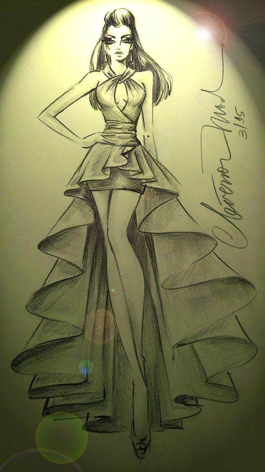 Fashion design model sketches 93