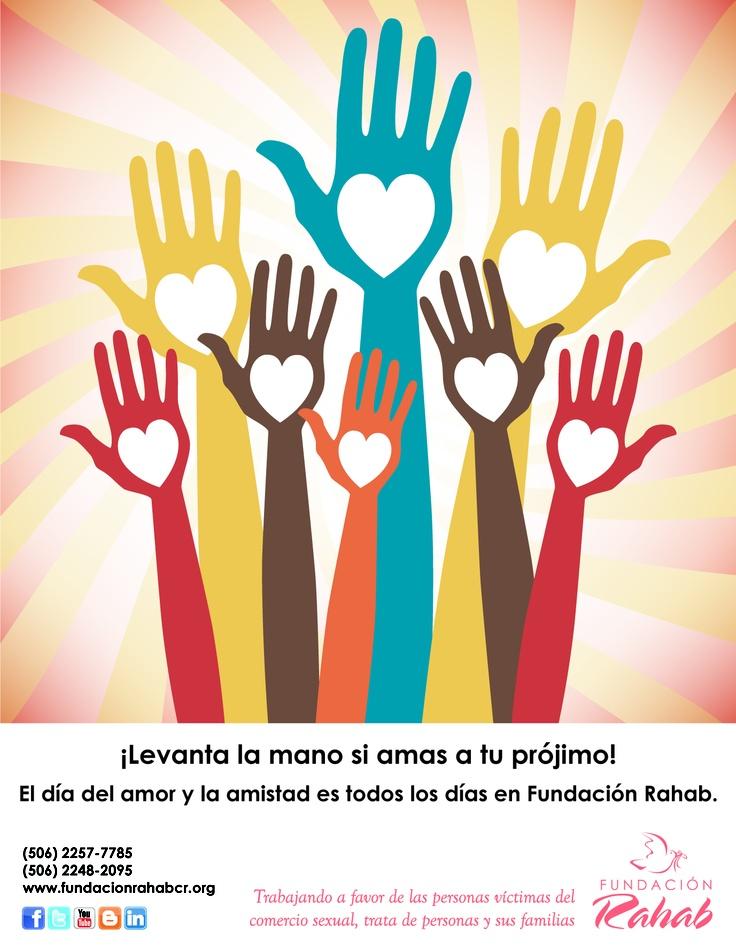 Afiche diseñado especialmente para la celebración del día del amor y la amistad.