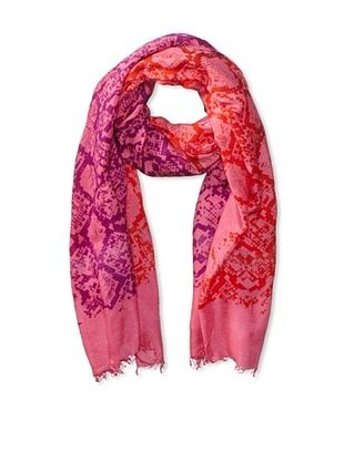 70% OFF LEIGH & LUCA Women's Snake Rectangle Scarf, Pink