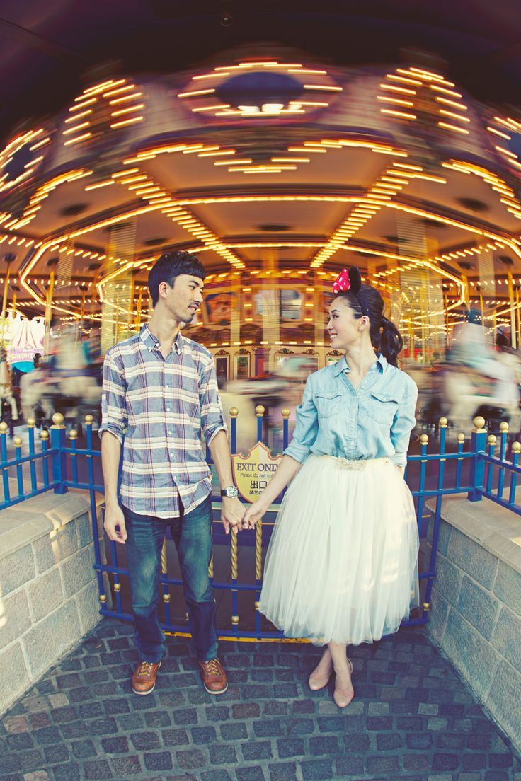 Awesome Disney engagement photo by AXIOO.