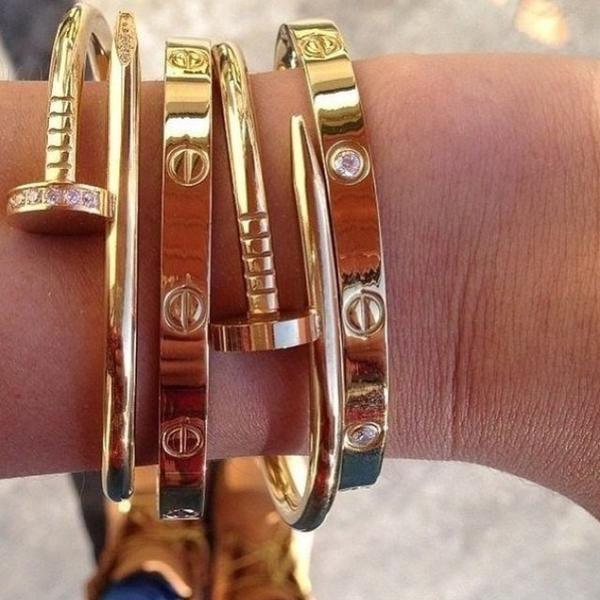 Nail Style Gold Love Armreif – Fashion Fashion Fashion