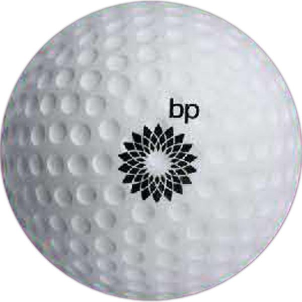 Golf Ball Stress Reliever. Have fun! Give 'em a good squeeze and relax! Our sport equipment-shaped stress reliever is great for tradeshow giveaways and events. A fun way to communicate and put a smile on someone's face.