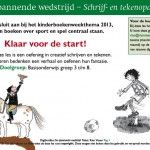 Kinderboekenweek 2013 sport, creatief schrijven of tekenen Digibordlessen |