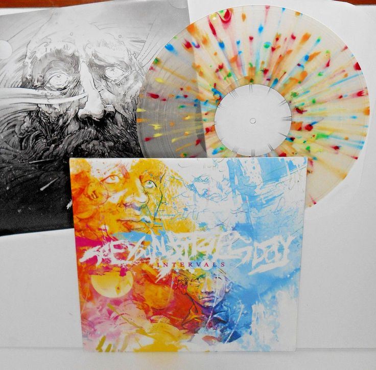 SEE YOU NEXT TUESDAY intervals CLEAR VINYL with MULTI-COLOR SPLATTER Lp Record #metalcoreHardRock