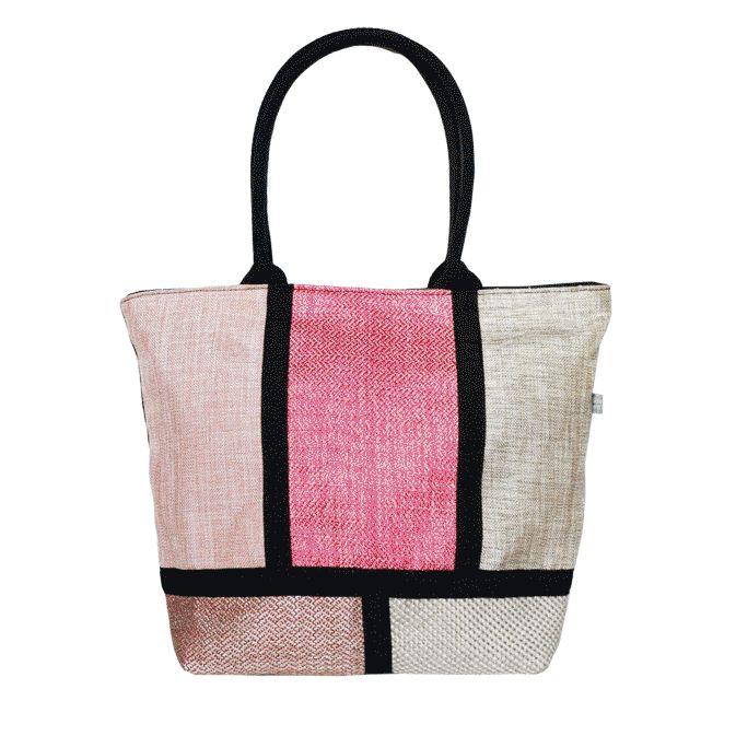 LeZirreNapoli_bags_borse_LaShopper_pink_texture