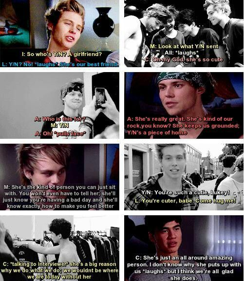 Imagine: you're the boys best friend.. (c)5SOS_Imagining I could be their best friend I could definitely put up with them I love all of them