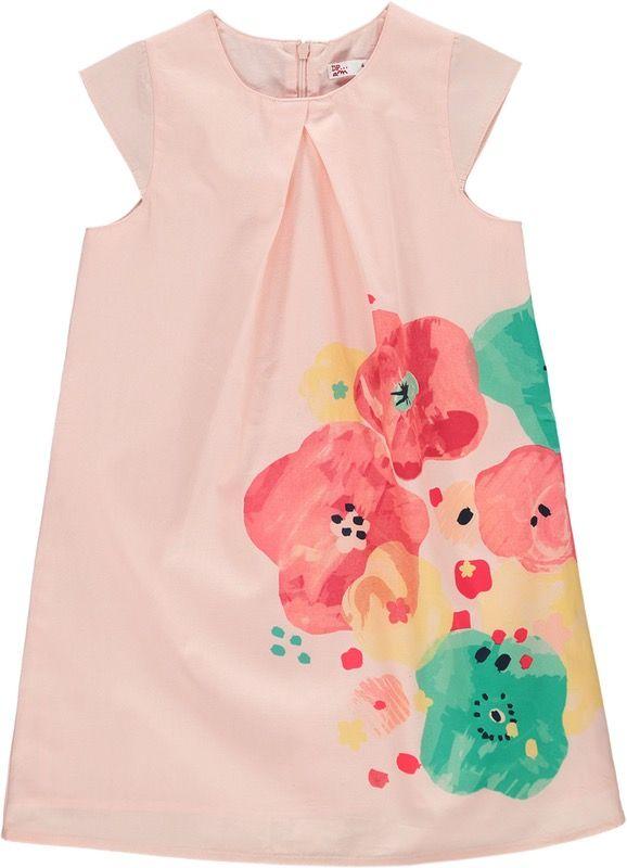Robe rose fleurie pour petite fille Du Pareil Au Même, parfaite pour une cérémonie de mariage
