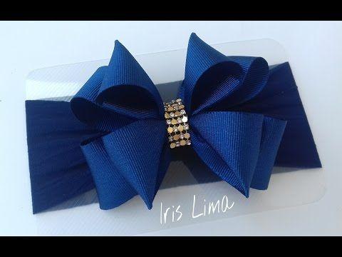 Como fazer laço de fita de gorgurão de forma simples e fácil By Iris Lima