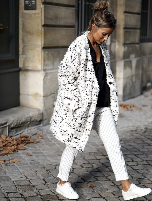 Le parfait look noir et blanc #34 (manteau My Sunday Morning - blog Noholita)