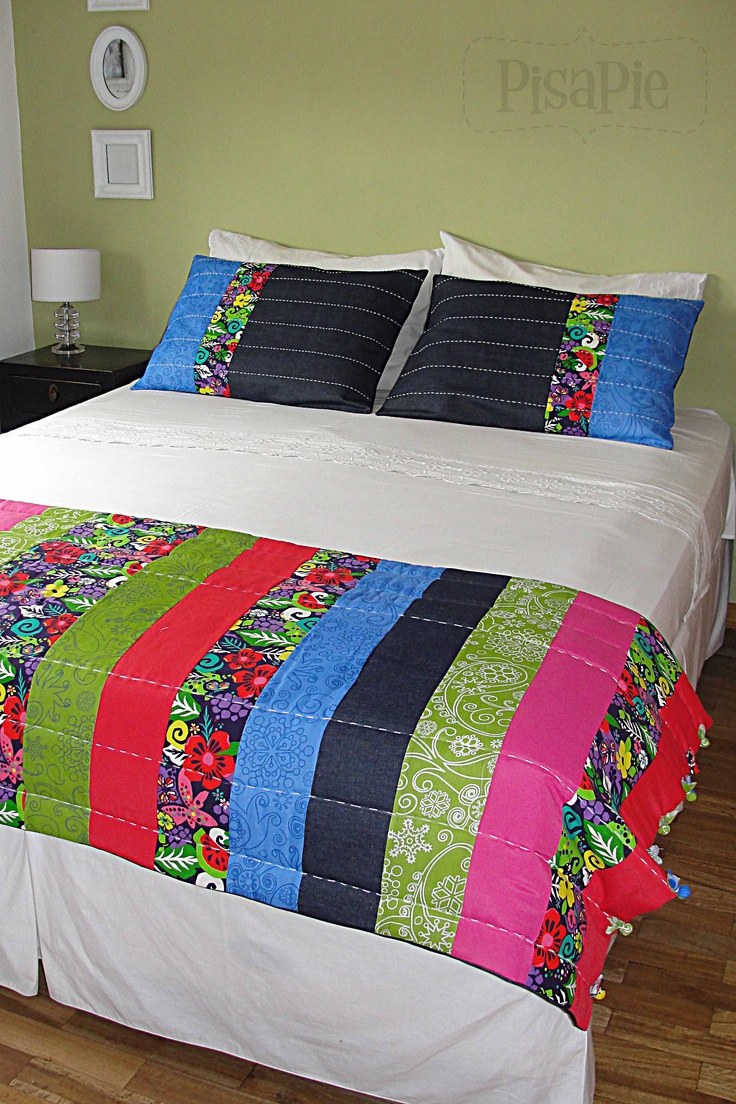 Patchwork bed sheets patterns - Modelo Tiras
