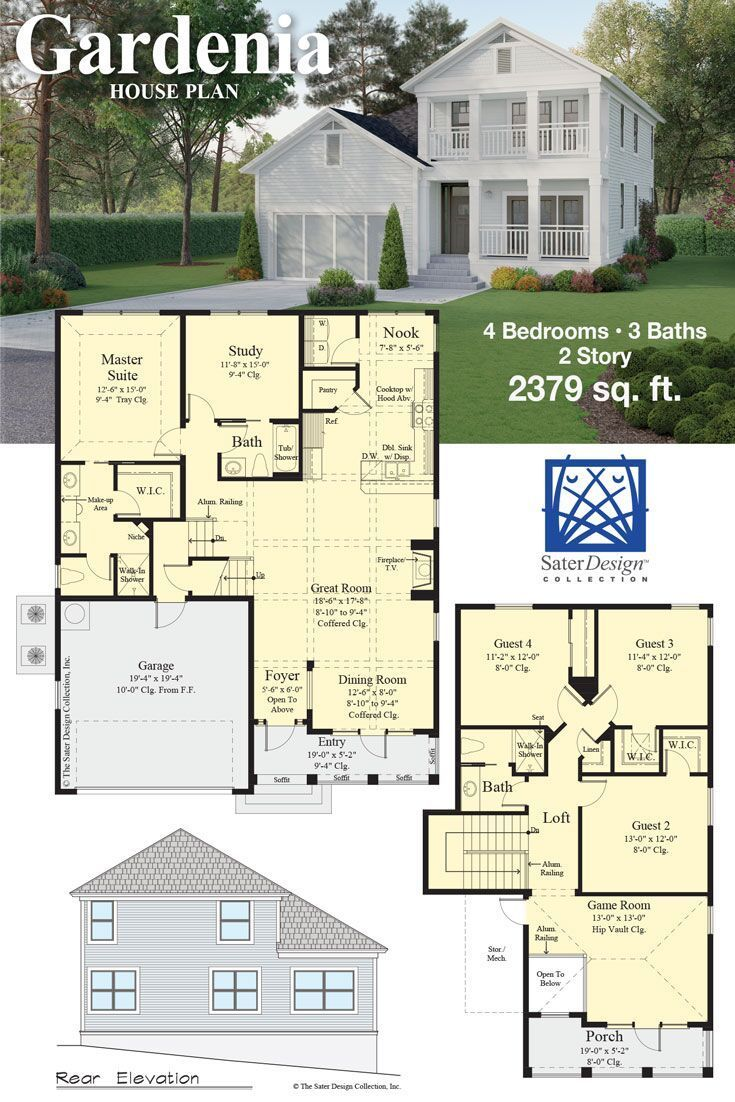 The Sater Design Collection the gardenia house plan | sater design collection newest