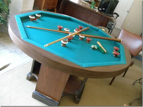 Octagon Bumper Pool Table