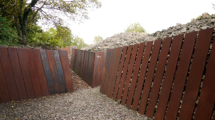 Steel Retaining Structures : Corten steel retaining wall google search landscaping