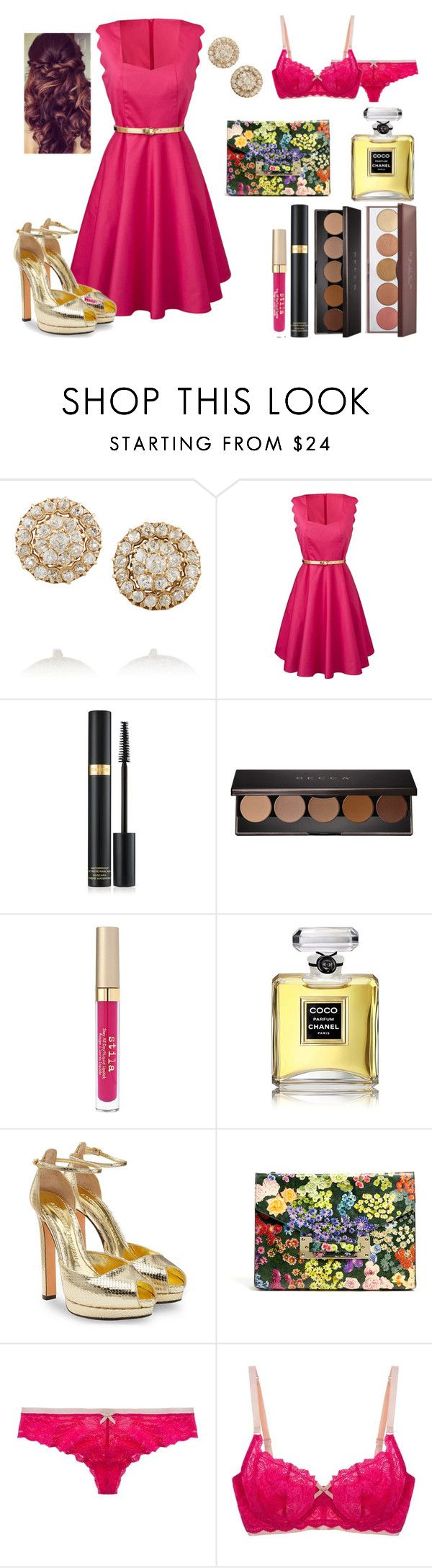 """Untitled #611"" by miss-meghan-elizabeth ❤ liked on Polyvore featuring Fred Leighton, Tom Ford, Becca, Stila, Chanel, Alexander McQueen, Sophie Hulme and Elle Macpherson Intimates"