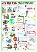 A poster showing which modal verbs go where! Colourful, with example sentences illustrating the meanings. Covers ALL modals. - ESL worksheets