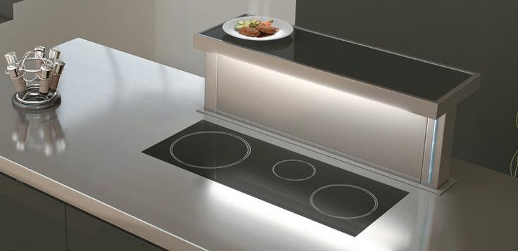 #cocinas Campana de encimera y calientaplatos de Pando