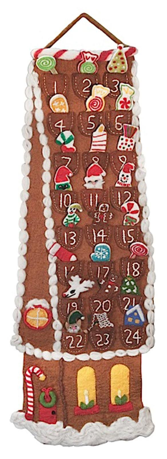 Advent cal gingerbread house free shipping