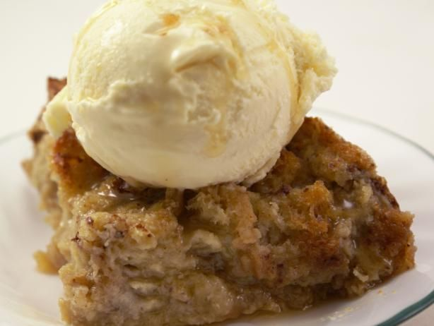 Caramel Bread Pudding from Food.com: As my son says, it is like eating French Toast for dessert. :) It is very much like French Toast with a lovely caramel sauce on it. We all like it warm best. Make sure you use a 2-quart dish. Trust me, it will boil over in your stove in a 1 1/2-quart one. Oops! And don't worry, it will fall a little bit as it cools.