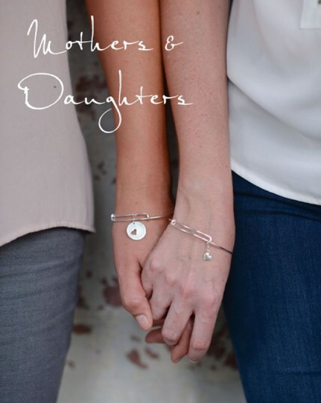 Crazy about these matching mother/daughter bracelets from @erinpelicano. #family