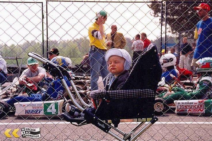 Jan Antoszewski watching his first races