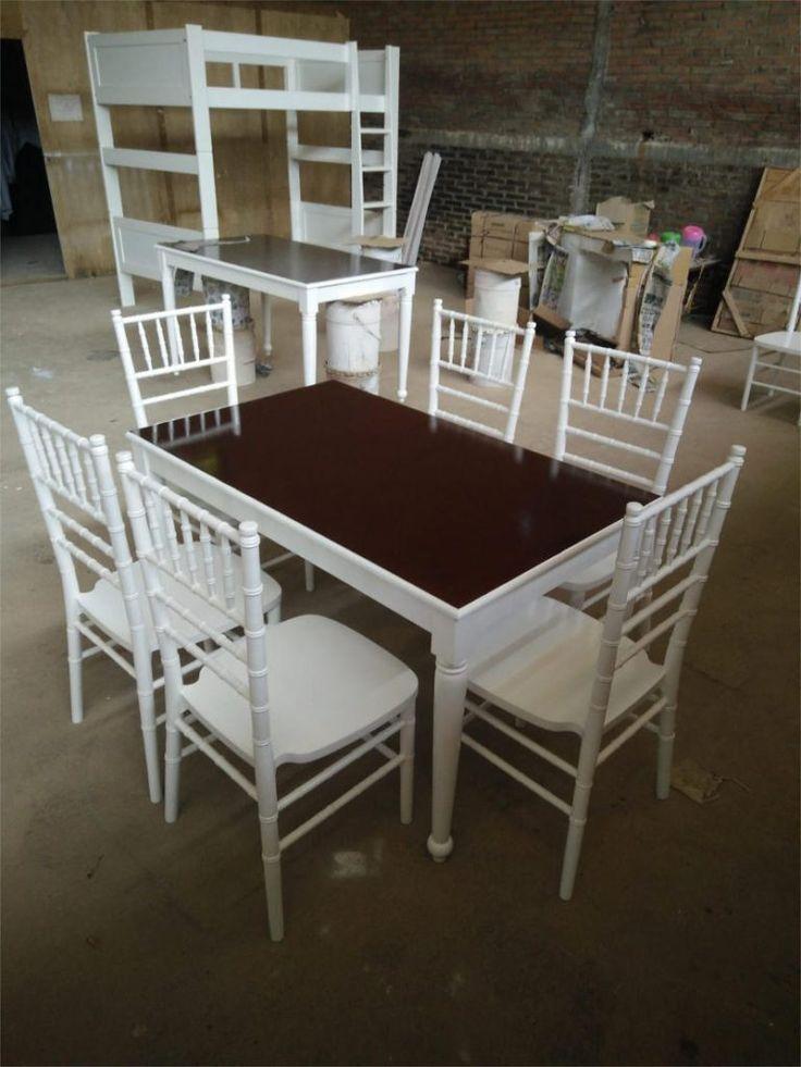 Set Kursi Dan Meja Makan Tiffany Putih