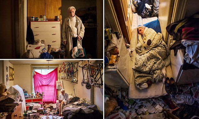 Photographer moves in with hoarder, 72, to document the the condition (Odd mixture of dapper and hoarding)