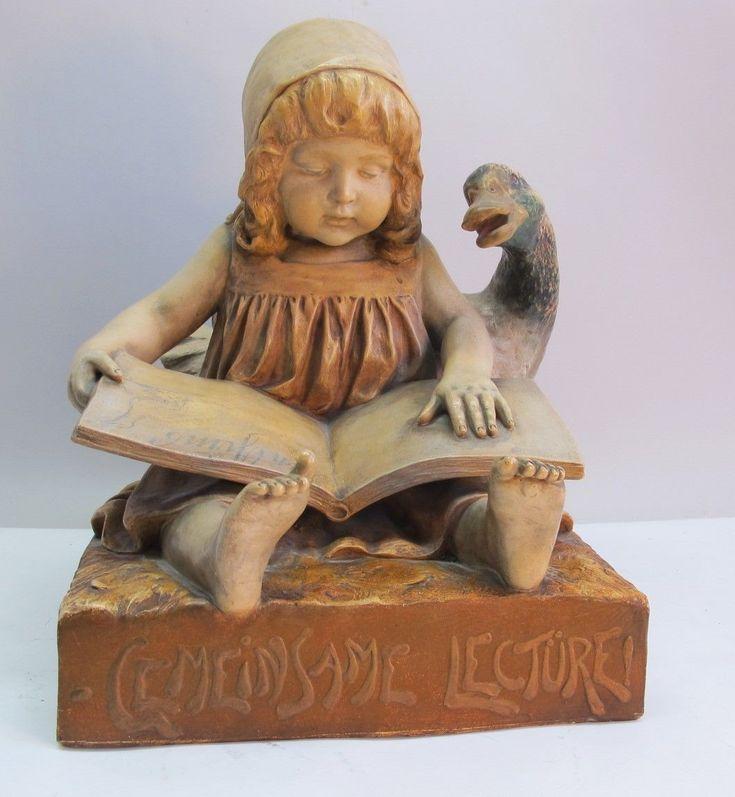 AUSTRIAN ART NOUVEAU Terracotta Figure   c. 1900  Goldscheider