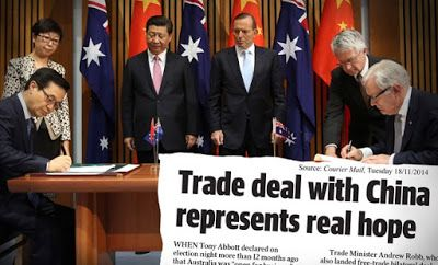 I have a lingering fear that opposition leader Bill Shorten is trying to sabotage the Chinese free trade agreement for political purposes.