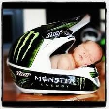 Monster motocross racing baby. Love! Makes me want to try one more time for a boy...umm ok I am over it...but soooo sweet!!
