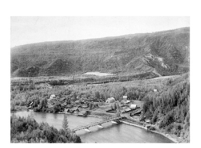 town of Quesnel Forks.Located at the confluence of the Cariboo and Quesnel Rivers