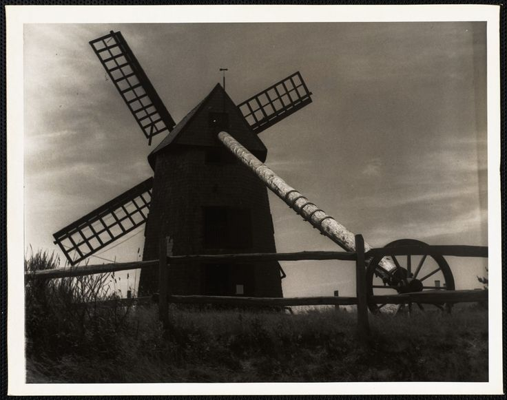The Old Mill, Nantucket c. 1930s  https://www.digitalcommonwealth.org/search/commonwealth:cc08hq625 #windmill