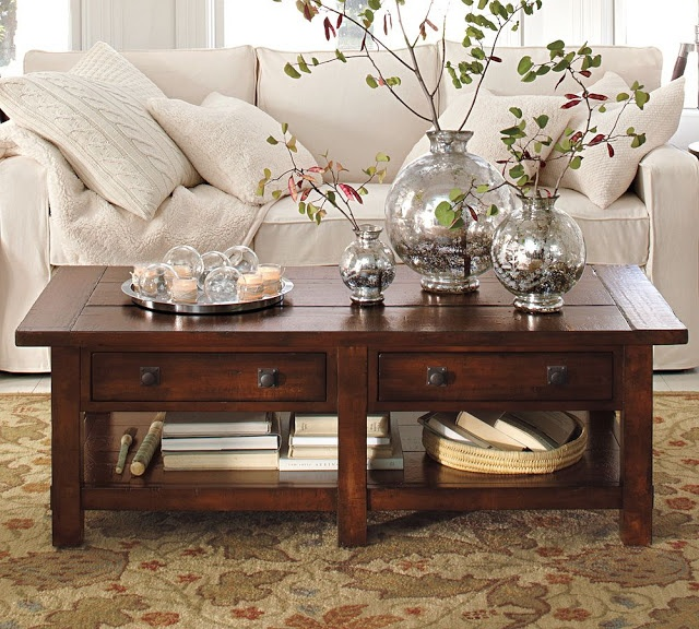 brighton beach contemporary warm living room interior decorating ideas 2011 by potterybarn