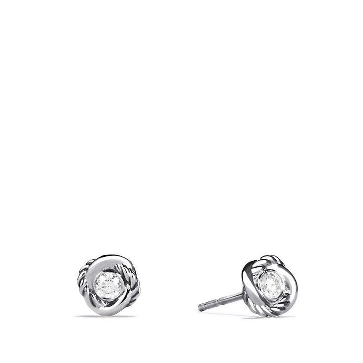 Infinity Earrings with Diamonds David Yurman