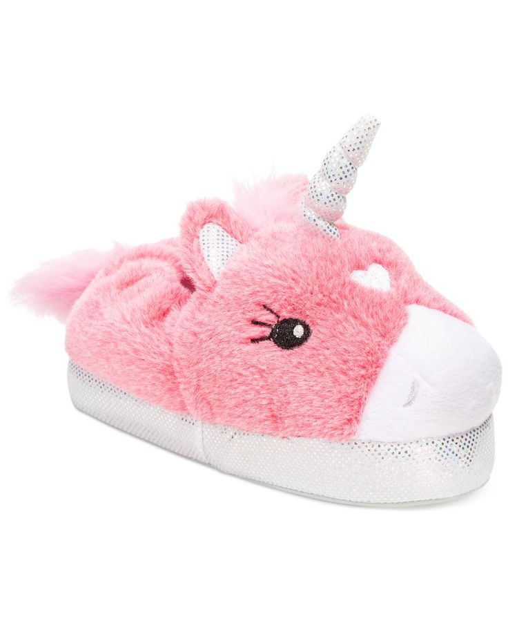 It's not a myth! She'll make any evening magical by galloping around in these unicorn slippers from Stride Rite.   Textile upper and outsole; Polyester fake fur   Wipe clean   Imported   Stride Rite l