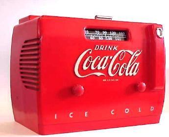 Coca Cola cooler radio.