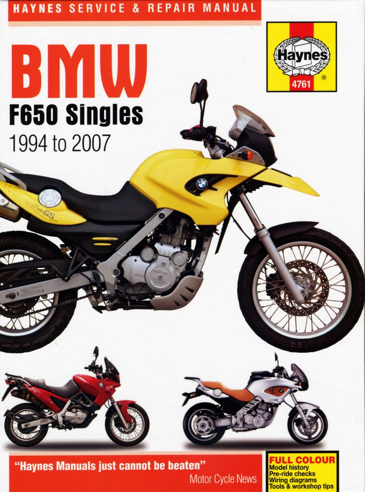 Haynes M4761 Repair Manual for 1994-07 BMW F650 Singles