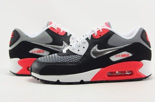 Acheter Nike - Air Max - noir blanc rouge argent pas cher Femme - Acheter Nike Air Max noir blanc rouge argent pas cher Femme