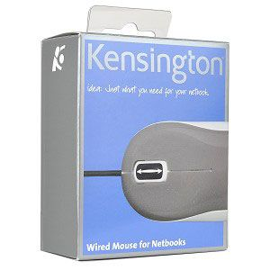 Kensington K72348US Mouse 3-Button USB Mini Optical Scroll for Netbooks (Gray/White)