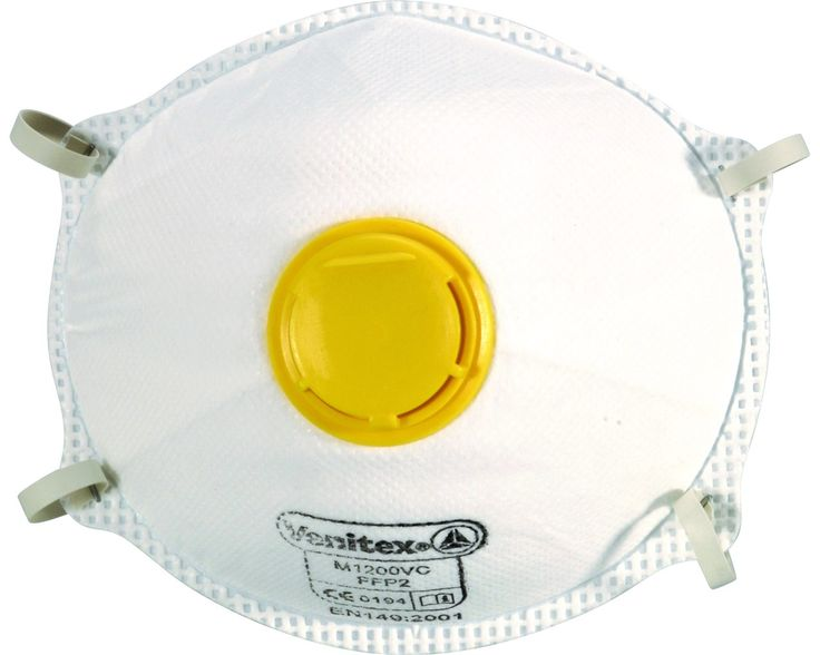 #PPE Venitex FFP2 Safety Masks are available in a box of 10 and are a protective mask for use against solid and liquid particles of average toxicity. Conform to EN149.